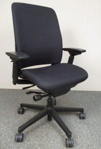 Steelcase Amia Task Chair. FRAME: Black FABRIC: Black FEATURES: U2013 Two Way  Adjustable Arms U2013 Tilt Adjustable U2013 Multi Level Tilt U2013 Tilt Lock