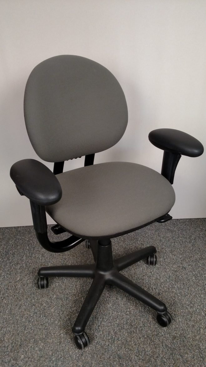 Steelcase Criterion Task Chair & Steelcase Criterion Chair with black frame and olive fabric
